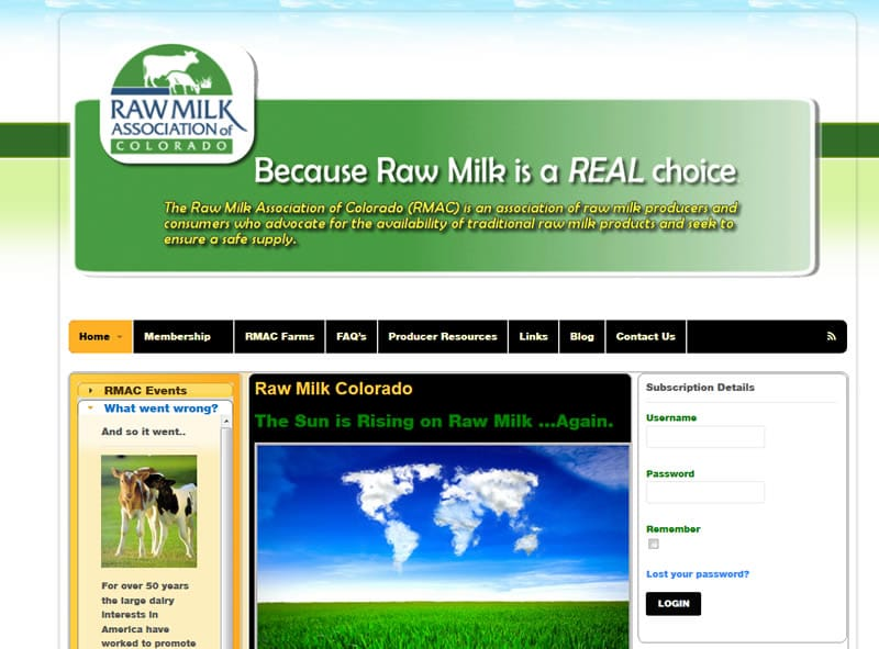 Raw Milk Colorado